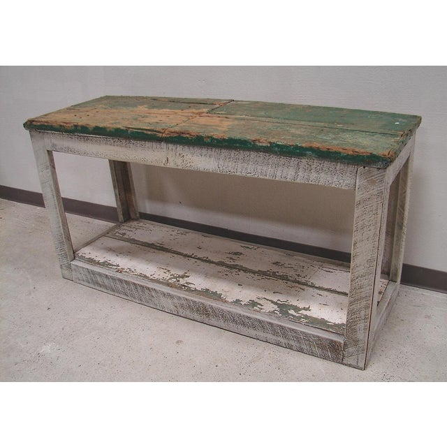 Primitive Console Table Vanity Cabinet - Image 3 of 3