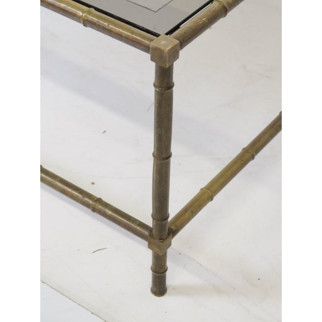 Bronze Faux Bamboo Cocktail Table - Image 2 of 5