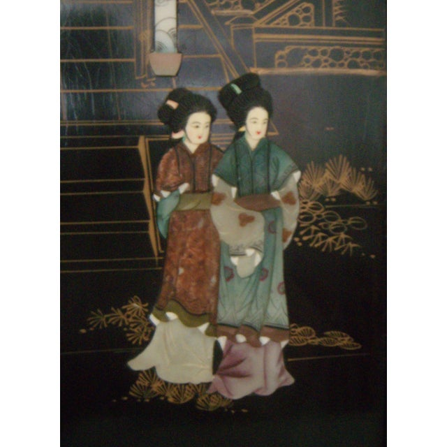 """""""Courtesans in the Garden"""" Wall Hangings (Four) - Image 3 of 8"""