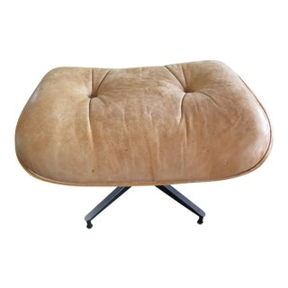 1990s Mid-Century Modern Charles Eames for Herman Miller Leather Ottoman For Sale