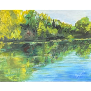 American Painting of Spring River For Sale