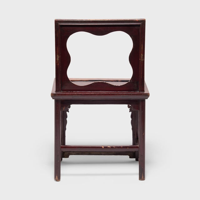 19th Century Chinese Rose Chairs - a Pair For Sale - Image 9 of 12