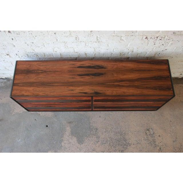 Wood Westnofa Scandinavian Modern Rosewood Long Dresser For Sale - Image 7 of 11