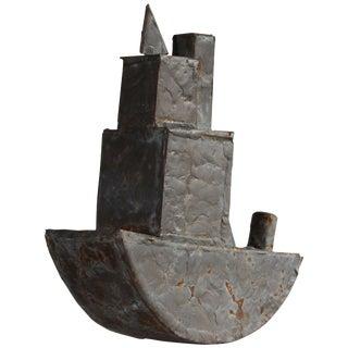 Steel & Patinated Brass Brazed Tugboat Model