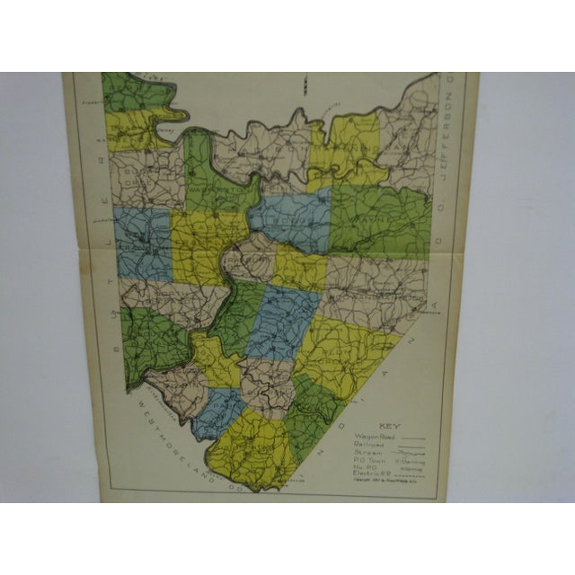 This is a Vintage Color Map Of Armstrong County located in Pennsylvania. The Map's copyright is 1911 - Rand McNally &...
