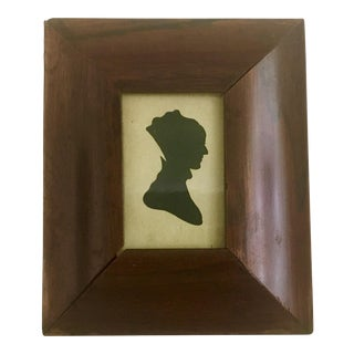 19th Century Antique Portrait Miniature Silhouette of a Lady For Sale