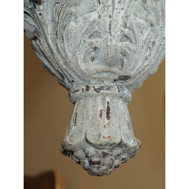 Wood Italian Carved Wood Lantern For Sale - Image 7 of 9