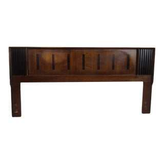 Midcentury King Size Lane Walnut and Rosewood Headboard For Sale