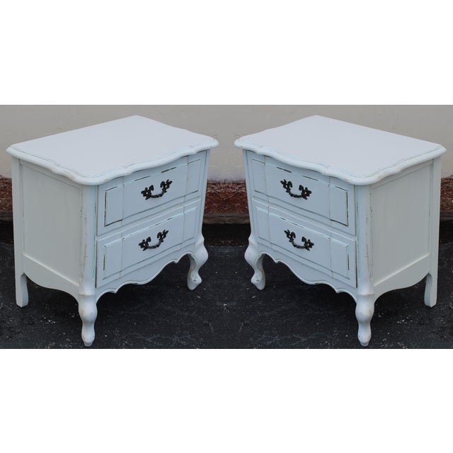 French Provincial Nightstands - A Pair - Image 2 of 7