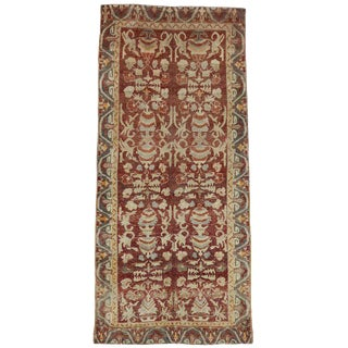 20th Century Turkish Oushak Hallway Runner - 4′8″ × 10′4″ For Sale