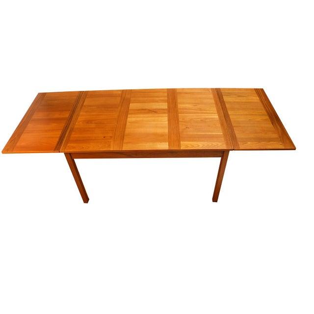 Brown Danish Modern Teak Extendable Dining Table Vejle Stole Møbelfabrik For Sale - Image 8 of 11