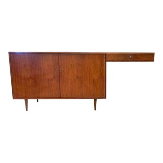 Mid Century Desk, Credenza Cabinet For Sale