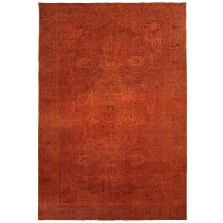 Overdyed Turkish Kayseri Carpet in Pumpkin | 7'3 X 11