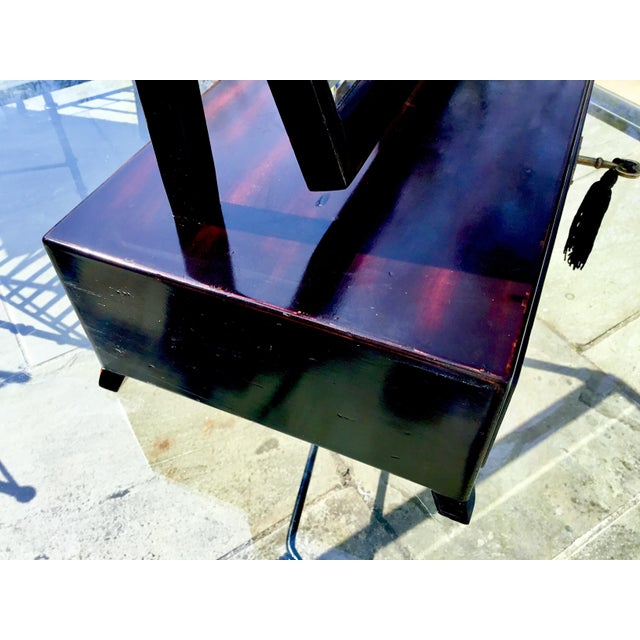 Asian Asian Modern Rosewood Lacquer Dressing Table Mirror For Sale - Image 3 of 13