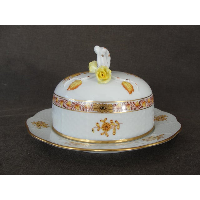 Herend Chinese Floral Butter Dish - Image 4 of 11