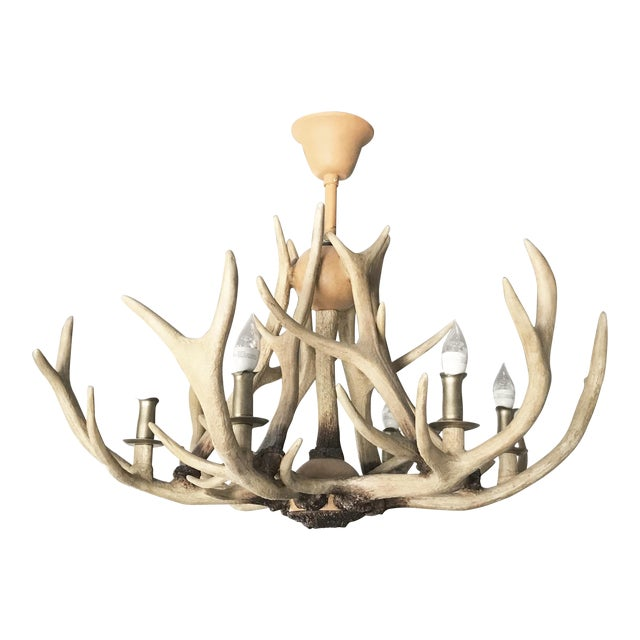 Restoration Hardware Adirondack Antler Chandelier For