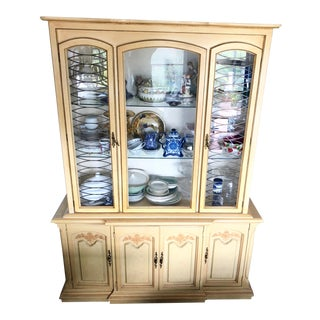 Vintage French Provincial China Cabinet For Sale