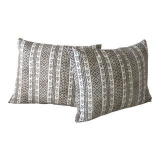 "Boho Chic Jasper Michael Smith ""Dutch Stripe"" in Vision Pillows - a Pair For Sale"