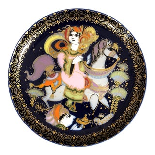 "Vintage Bjorn Wiinblad Rosenthal China Studio Line Germany ""Aladin"" Wall Plate, Signed For Sale"