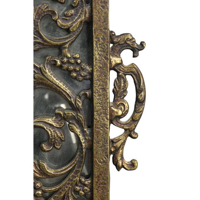 Oscar Bach Bronze Wall Mirror For Sale - Image 4 of 8