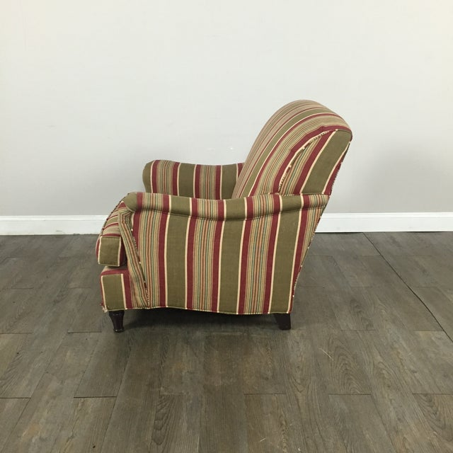 Pottery Barn Striped Armchair - Image 9 of 11