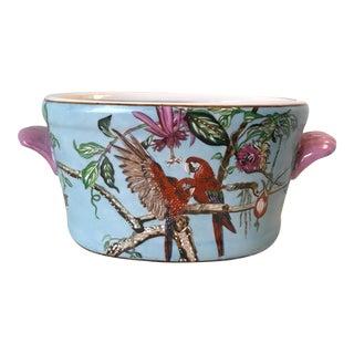 Parrot Ceramic Planter