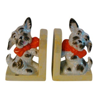 Vintage Terrier Bookends - a Pair For Sale