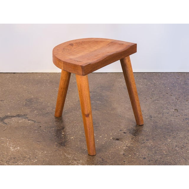 Jean Touret Oak Stool for Marolles For Sale - Image 10 of 10