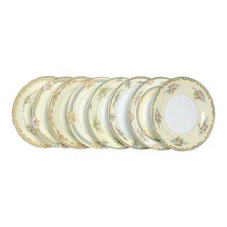 Vintage Mixed Noritake Dinner Plates - Set/8 For Sale