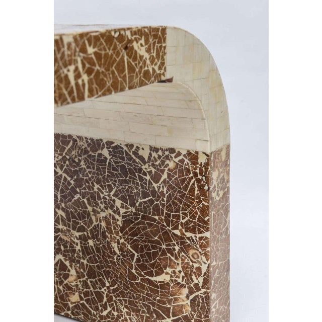 Coconut & Bone Waterfall Stool For Sale - Image 9 of 10
