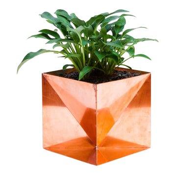 """Origami Planter - Copper 14"""" For Sale"""