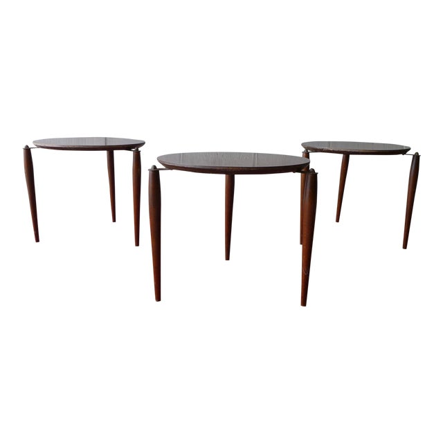 Mid Century Modern Stackable Plant Stands, Set/3 For Sale