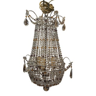 Vintage French Crystal Chandelier For Sale