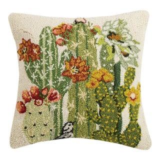 "Cactus Floral Hook Pillow, 16"" x 16"" For Sale"