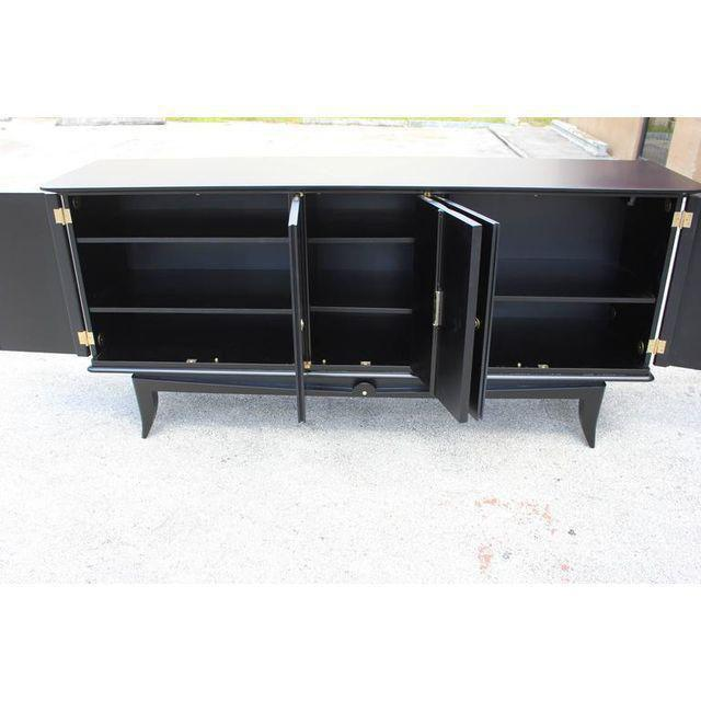 Beautiful Vintage French Art Deco Ebonized Sideboard / Buffet 1940s - Image 3 of 11