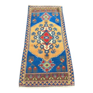 1970s Vintage Turkish Small Rug - 1′9″ × 3′7″ For Sale