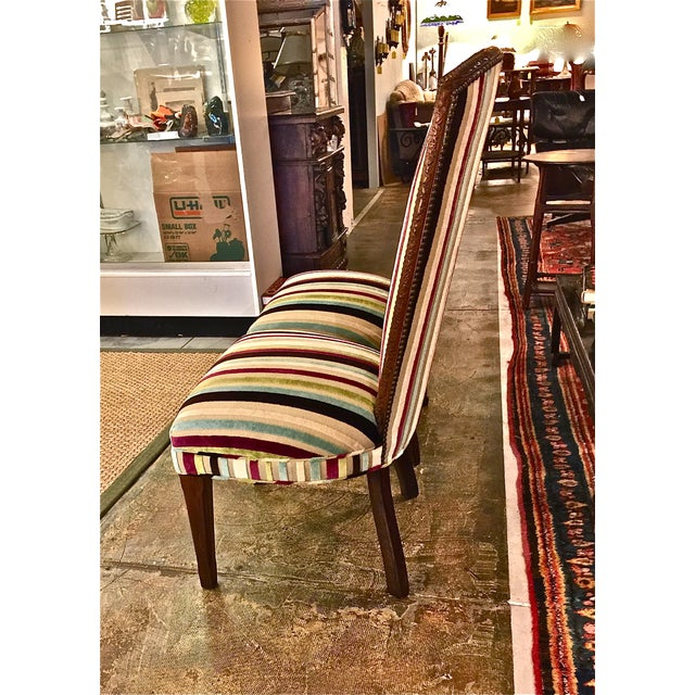 Mid-century Modern High Back Side Chairs - Pair - Image 4 of 7