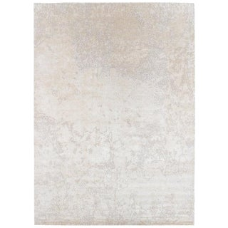 Organic/ Abstract Style Area Rug in Silk and Wool by Carini, 10'x14' For Sale