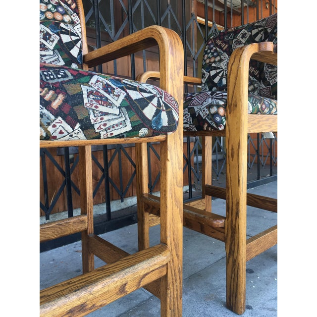 Vintage Mid Century Barstools- A Pair For Sale - Image 11 of 13