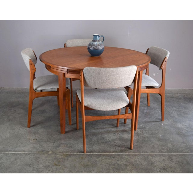 Danish Teak Lotus Or Flip Flap Expandable Dining Table By - Danish modern kitchen table