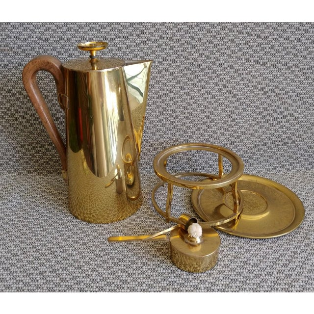 Tommi Parzinger Brass Coffee Server Set For Sale In Palm Springs - Image 6 of 11