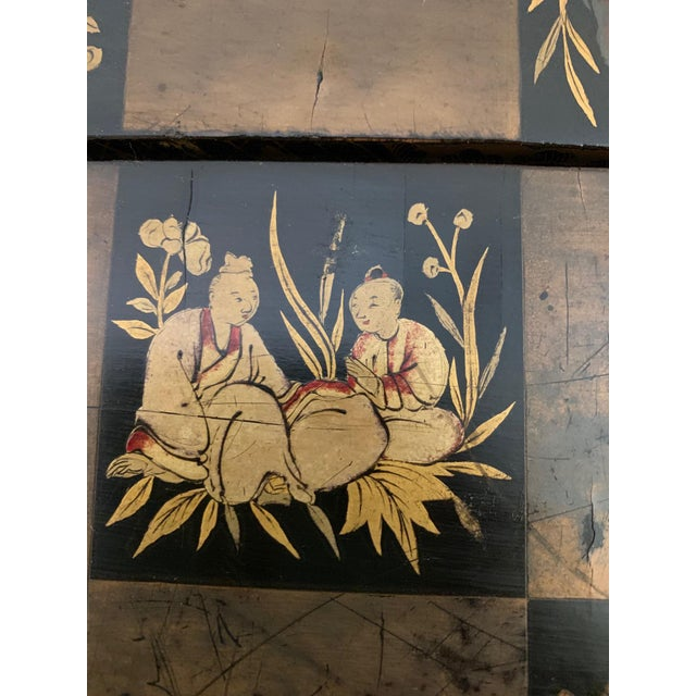 Wood Chinese Hand Painted Lacquered Game Board For Sale - Image 7 of 13