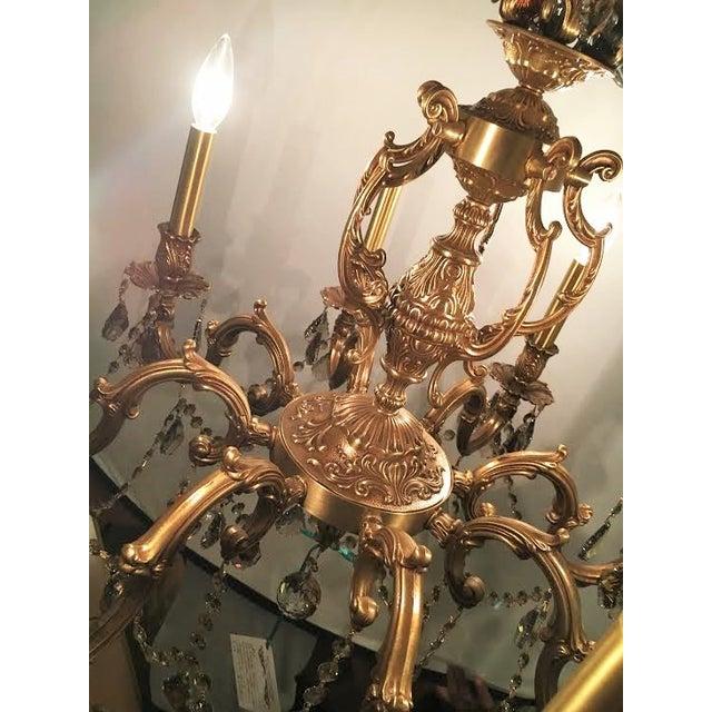French Swarovski Crystal Chandelier For Sale - Image 5 of 7