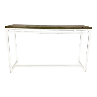 Go Home Magnolia Wood and Acrylic Console For Sale