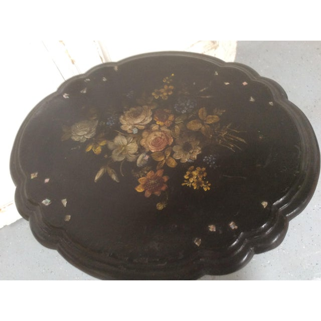 Late 19th Century Antique Victorian Papier-Mâché Tilt Top Table For Sale - Image 5 of 13