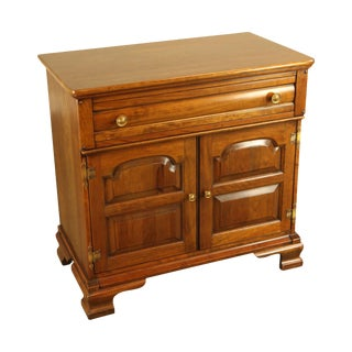Unique Furniture Makers Vintage Solid Cherry Traditional Server Cabinet For Sale