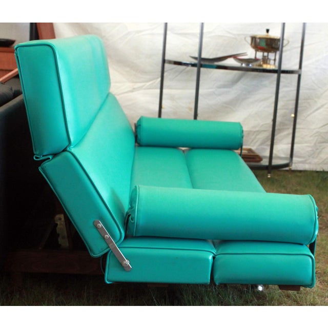 Martin Borenstein Turquoise Daybed Sofa Mid Century Modern C.1960's For Sale - Image 5 of 10