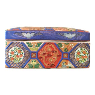 Chinese Imari Style Lidded Trinket Box For Sale