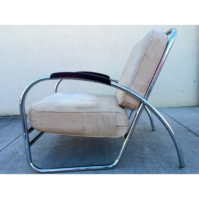 Kem Weber Style Deco Chrome Chair by Royal Metal For Sale - Image 5 of 11