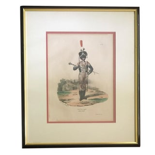 "19th C. Military Lithograph After Hippolyte Belange: ""Tambour Major, Garde Royale."" For Sale"